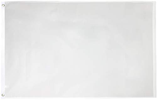 Green Grove Products White Flag 3' x 5' Ft 210D Nylon Premium Outdoor
