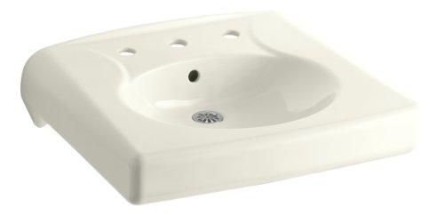 (KOHLER K-1997-8-96 Brenham Wall-Mount Bathroom Sink with 8