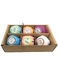 Lakkio 6 Bath Bombs with Dried Flowers Handmade Bath Bombs for Women Gift Set for Thanksgiving day Christmas Gift