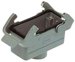 Heavy Duty Connector Hood, Coupler, PG29 Top Entry, High Profile, Han B Series, 180°