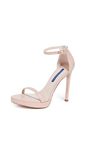 Stuart Weitzman Women's Nudist Disco Sandals, Buff Blush, Pink, 10.5 M US