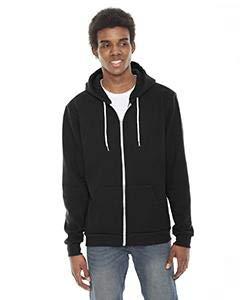 American Apparel Unisex Flex Fleece Zip Hoodie - Black - -
