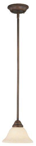 (Livex Lighting 6110-58 Coronado 1 Light Imperial Bronze Mini Pendant with Vintage Scavo Glass by Livex Lighting)
