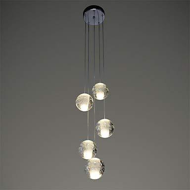 inklusive Leuchtmittel // G4 // 5-10㎡ 5-Licht Cluster Pendelleuchte Ambient Light LED Warmwei/ß 90-240V Mao/&Long Kronleuchter Kristall