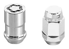 McGard 84537 Chrome Bulge Style Cone Seat Wheel Installation Kit (M12 x 1.5 Thread Size) - for 5 Lug -