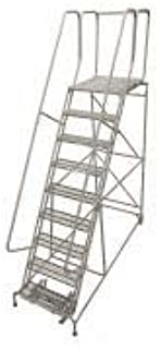 product image for Cotterman 1509R3232A3E30B4W4C1P6 - Rolling Ladder Steel 120In. H. Gray
