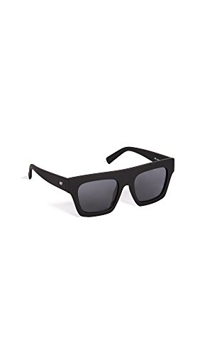 Le Specs Women's Sub Dimension Sunglasses, Black/Smoke Mono, One - Sunglasses Shopbop