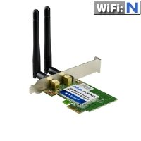 ASUS(PCE-N13) Wireless-N Network Adapter (150Mbps Transmit / 300Mbps Receive) with PCI-E interface, Include Full height and Low profile bracket, WPS button Support (replace by PCE-N15) by Asus (Image #1)