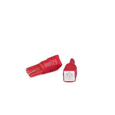 t5 74 coche del cuadro de instrumentos SMD-Bombillas LED (rojo)