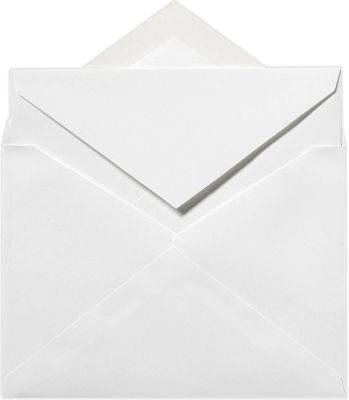 (6 x 8 1/4 Outer Envelopes - 70lb. Bright White (50 Qty) | Perfect for Invitations, Announcements, Sending Cards | Printable | 70lb Paper | 72771-50)
