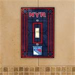 (NHL Art Glass Switch Cover NHL Team: New York)
