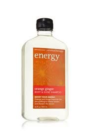 Bath Body Works Orange Ginger Energy Aromatherapy Shampoo 16 Ounce (Shine Therapy Shampoo)