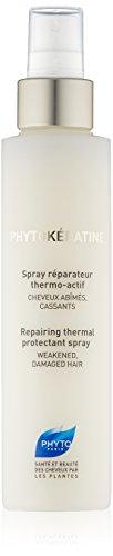 PHYTOKÉRATINE SPRAY Botanical Thermal Protectant Spray | Paraben Free & Sulfate Free | Heat Activated, Blow Drying | For Weak, Damaged, Brittle Hair | Prevents Breakage, Detangles, Hydrates | ()
