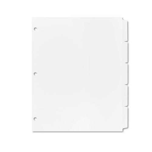 Averyamp;reg; - Xerox Docutech Three-Hole Index Dividers, 5-Tab, Letter, White, 30 Sets - Sold As 1 Box white 110-lb. paper dividers especially designed for use with certain Xerox high-speed copiers and offset presses.