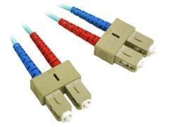 1m 10GB SC/SC Duplex MM Aqua Fiber - 50 Consumer E...