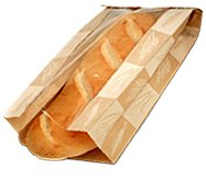 """EcoCraft 8""""x 3.5""""x 15"""" Dubl-Panel Artisan Bread Bag (Package of 200)"""