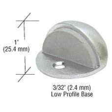 CRL Satin Chrome Zinc Diecast Floor Mounted Low Profile 3/32