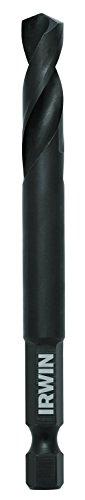 IRWIN Tools 1892813 Impact Performance Series Black Oxide 135-Degree Split-Point Drill Bit, 5/16-Inch (Split Point Degrees Drill Bit)