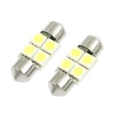 ICE BLUE RED AMBER 2x 31mm 4 LED 5050 SMD number plate interior dome light festoon bulb WHITE BLUE GREEN PINK Red