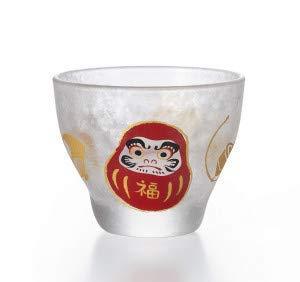 Aderia Japan Japanese Small Glass Sake Cup Daruma 90ml 6082 by Aderia Japan