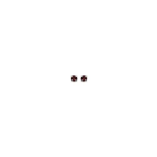 MARY JANE - Boucles d'oreilles Argent Femme/Homme/Fille/Garçon - Diam:2mm - Argent 925/000-Cristal (Puce / Rond)