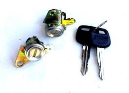 Well Auto Door Lock Set w/ Key(L & R) 93-97 Toyota Corolla 93-97 Geo Prizm (Toyota Corolla Door Lock)