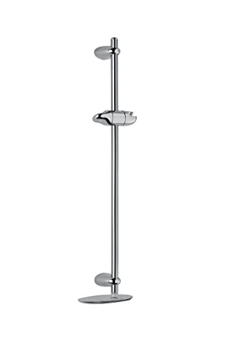 Mira Nectar Shower Slide Bar With Variable Fixing Centres - Chrome (2.1703.008, Twist And Lock Clamp Bracket, Soap Dish) by Mira Showers