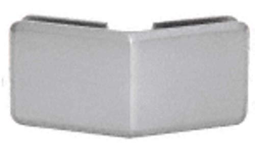 CRL Brushed Satin Chrome Beveled 135 Degree Glass-to-Glass Clamp