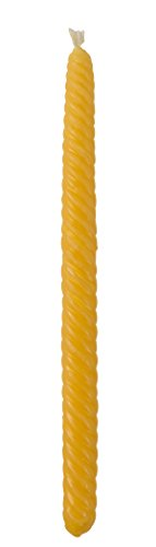 Braided Beeswax Havdalah Candle - Round Twist - Hand Dipped Bees Wax Braided - Shabbat Judaica Gift - By Ner Mitzvah