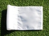 """(1) Replacement Solid White Colored Jr Golf Flag for our 30"""" Practice Green Pin Marker with Easy Grab Knob"""