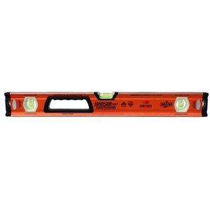 Box Level, Aluminum, 24inL, Ornge, 4 Magnets