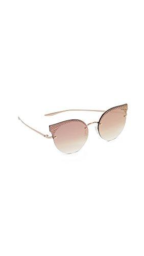 Barton Perreira Women's Sol Mate Sunglasses, Metallic Gold Snake/Cherry, One - Sunglasses Perreira Barton
