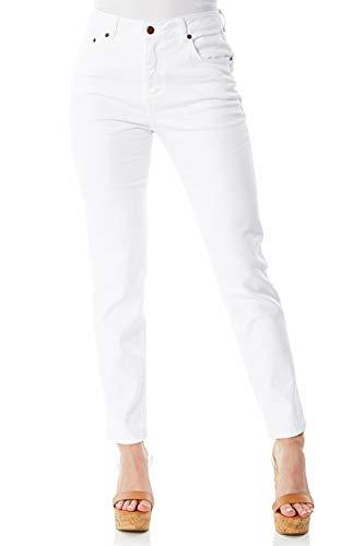 Roman Originals Skinny Slim Fit 98% Cotton Denim Tailored Jeans - White 14 (Best Jeans For Curvy Figure Uk)