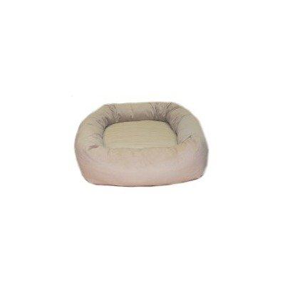Oblong Memory Foam Dog Bed Color: Navy Canvas, Size: Large (10″ H x 36″ W x 44″ D), My Pet Supplies