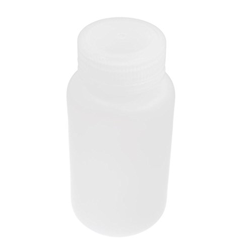 Plastic Lid 250mL 8 oz Chemicals Storage White Plastic Reagent Bottle