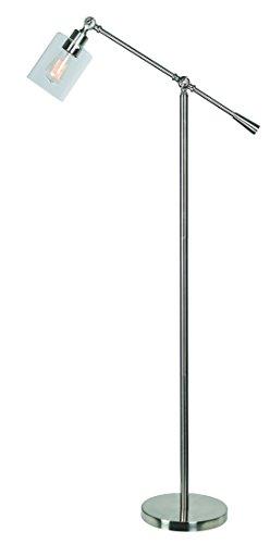 Kenroy Home Thornton Floor Lamp Warm Brushed Steel, Finish ()