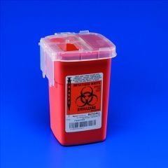 Kendall Phlebotomy Sharps Containers 1 Qt Clear Lid - ()