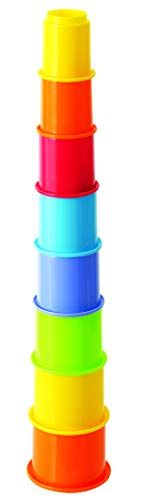 PlayGo My First Year Rainbow Stacking Cups Baby Toys Educational Toddler Toys Top Blocks Game Kit BPA Free Toys for 1 2 3 4-5 Year Old Girls Boys