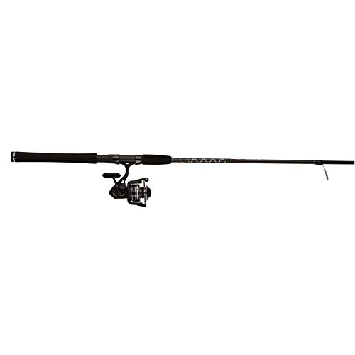 Penn Pursuit III LE 7' Medium-Light Onepiece 3000 Spinning Fishing Combo, Black/Silver, 7'-Medium Light-1Pcs