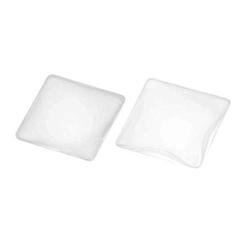 DNHCLL 20PCS 1 inch//25mm Square Time Gem Glass Patch Arc Round Transparent Glass Crystal DIY Jewelry Accessories Handmade Materials for Cameo Pendants Photo Jewelry Necklaces.
