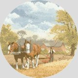 Heritage Crafts John Clayton Circles Team Work Counted Cross Stitch Kit 14 count aida by Heritage Crafts