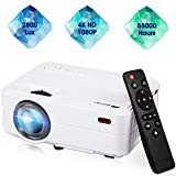 """Mini Projector,Movie Portable Projector,Smartphone Video Projector 1080P Supported 200"""" Display, 55,000 Hrs Led Projector Compatible with Laptop/HDMI/USB for Home Entertainment"""
