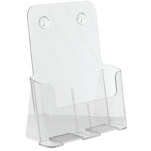 Marketing Holder Acrylic Literature Display Single Compartment Clear by Marketing Holders