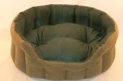 Teal Tartan Tweed, Superior Softy Dog Bed, with Polar Fleece Lining (26inch)