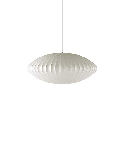 (Herman Miller H763 Nelson Saucer Pendant Bubble Lamp, Medium, White)