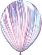 (PURPLE Light Blue Purple PINK (6) SWIRL TIE DYE Hippie 60's Agate Latex Balloons by)