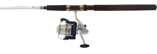 Okuma Fishing TU-1002-80 Tundra Combo Spinning Reel (Large, White/Blue) Okuma Rods And Reels
