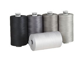 Connecting Threads 100% Cotton Thread Sets - 1200 Yard Spools (Salt & Pepper) (Sewing Thread)