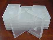 10 PCS VHS LIBRARY CASE WITH HUB, CLEAR, FULL SLEEVE, PSV14HUB
