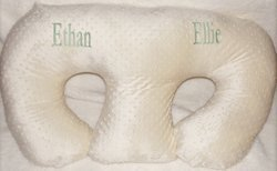 THE TWIN Z PILLOW - CREAM - 6 uses in 1 Twin Pillow ! Breastfeeding, Bottlefeeding, Tummy Time, Reflux, Support and Pregnancy Pillow! CUDDLE CREAM DOTS by Twin Z PIllow (Image #1)